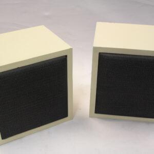 White 'Auratone like' speakers