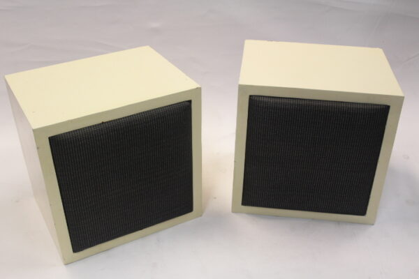 White 'Auratone like' speakers