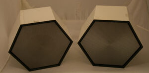 White Hexagon speakers