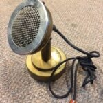 Brass announcer microphone